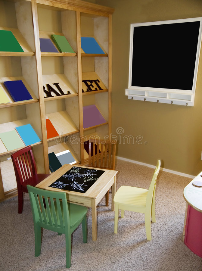 De ruimte van het kind, speelkamer stock foto