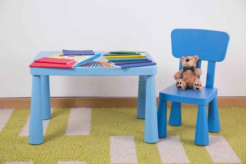 De ruimte van het kind voor studie vector illustratie