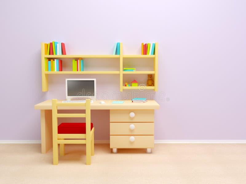 De ruimte van het schoolkind stock illustratie