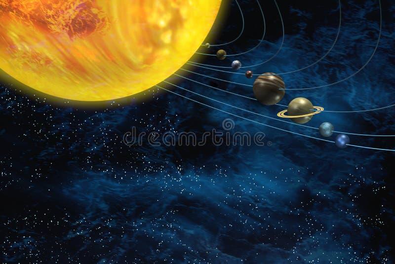 De ruimte van het zonnestelsel vector illustratie