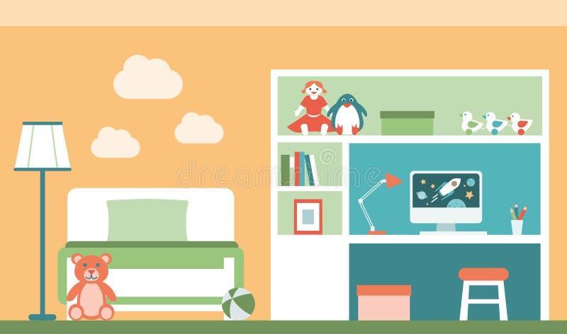 De ruimte van jonge geitjes vector illustratie