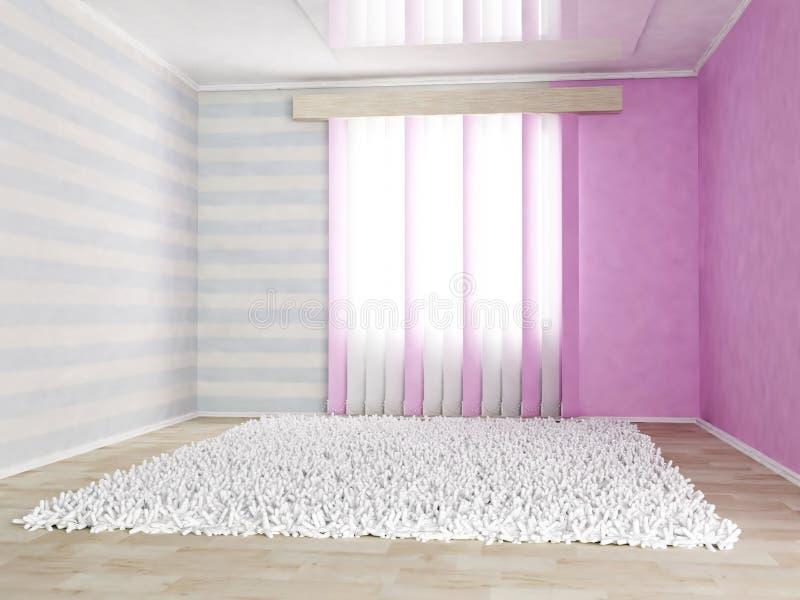 De ruimte van kinderen in zachte kleuren vector illustratie