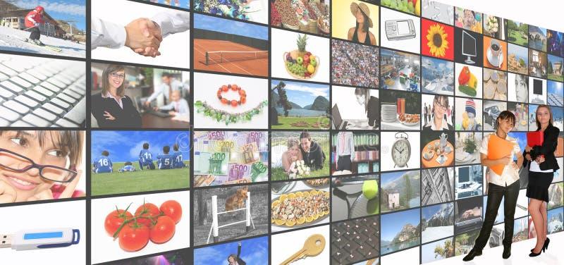 De ruimte van media stock foto's