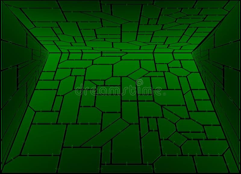 De ruimte van mysticustechno vector illustratie