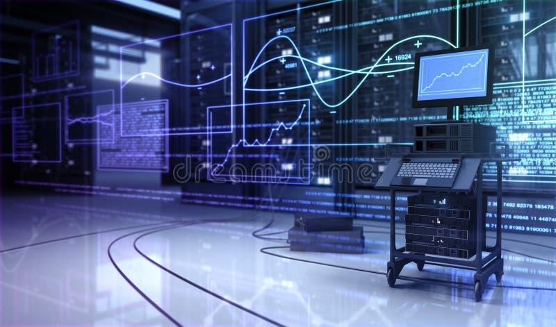 De ruimte van Techno vector illustratie