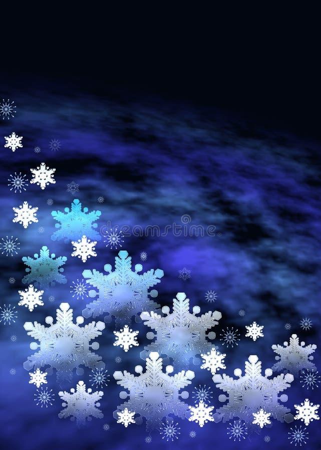 De ruimteachtergrond van Kerstmis stock illustratie