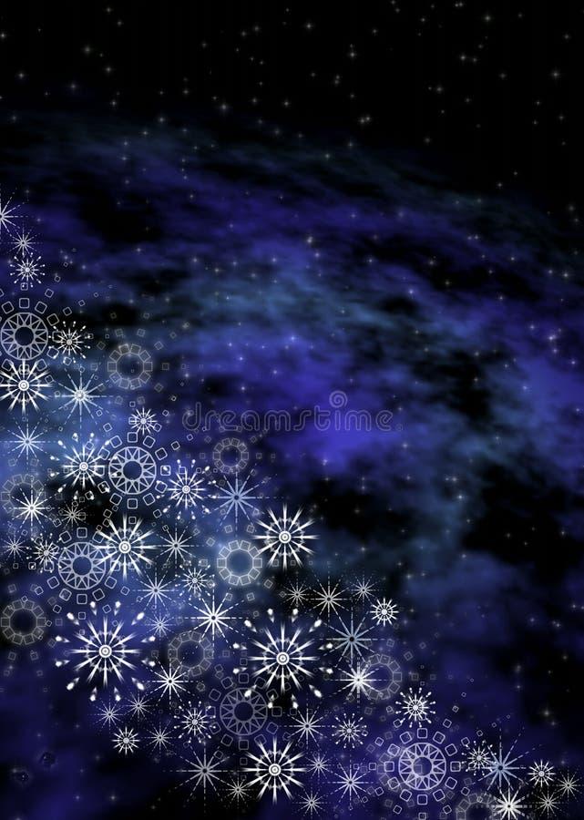 De ruimteachtergrond van Kerstmis royalty-vrije illustratie