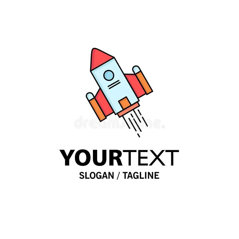 de ruimteambacht, pendel, ruimte, raket, lanceert de Vlakke Vector van het Kleurenpictogram stock illustratie