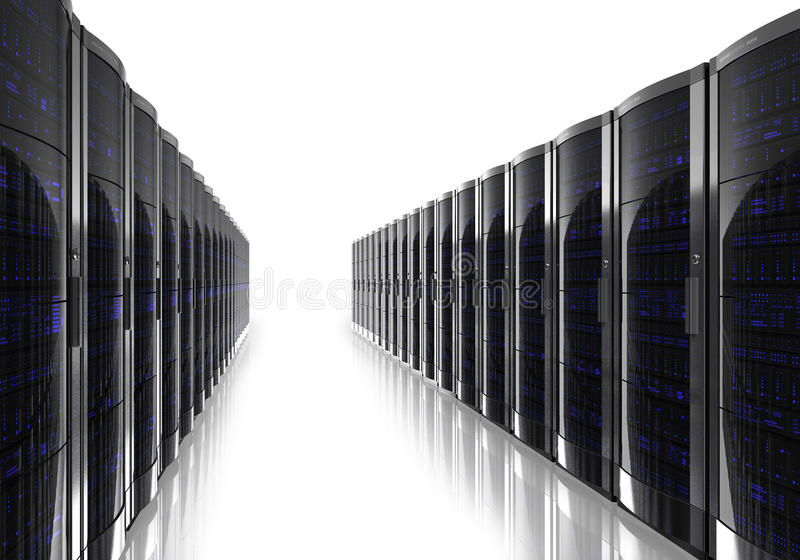 De ruimtebinnenland van de server vector illustratie