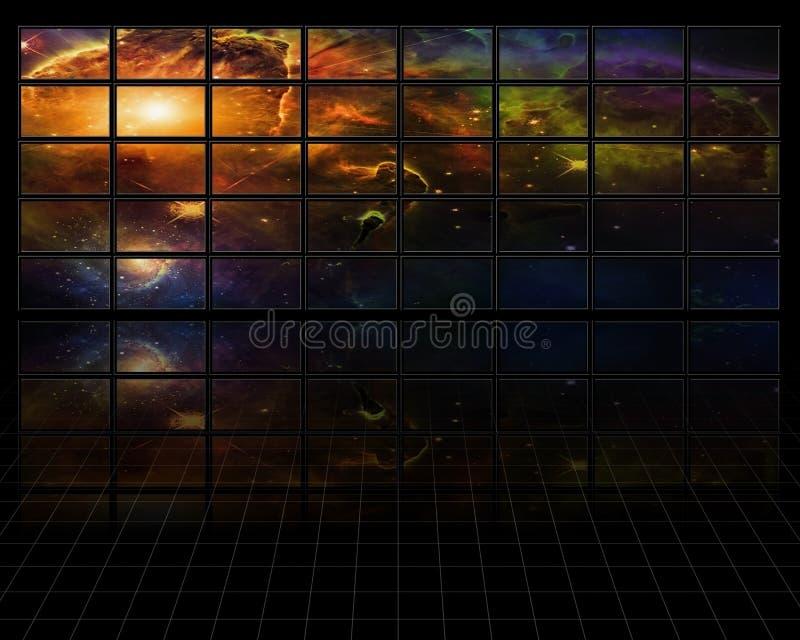 De ruimteschermen royalty-vrije illustratie
