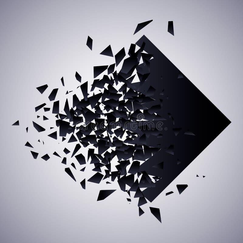 De ruit barstte vectorillustratie vector illustratie
