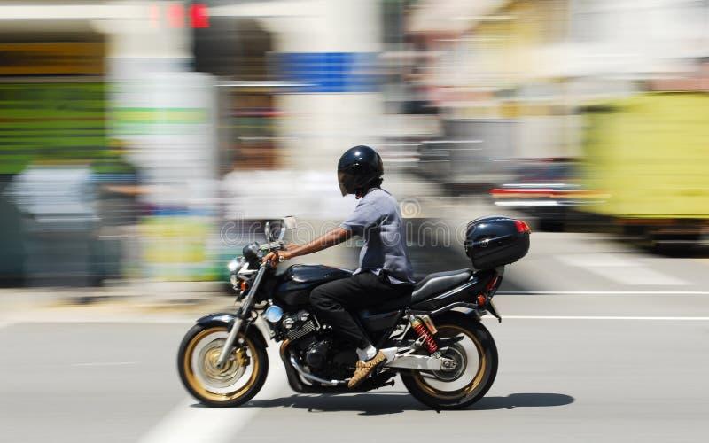 De Ruiter van de motorfiets royalty-vrije stock afbeeldingen