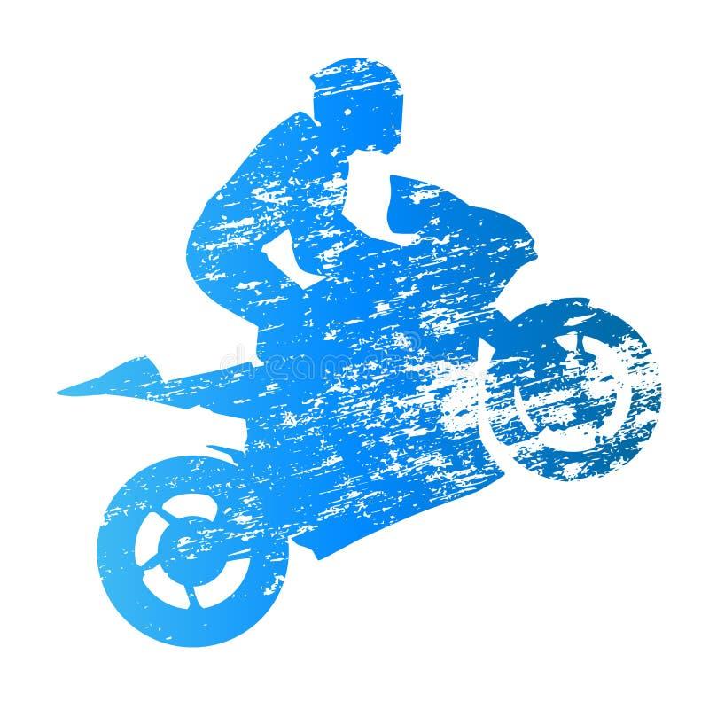 De ruiter van de wegmotor wheelie vector illustratie