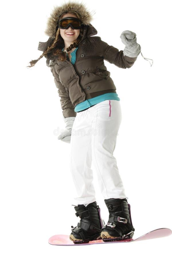 De ruiter van Snowboard stock foto's