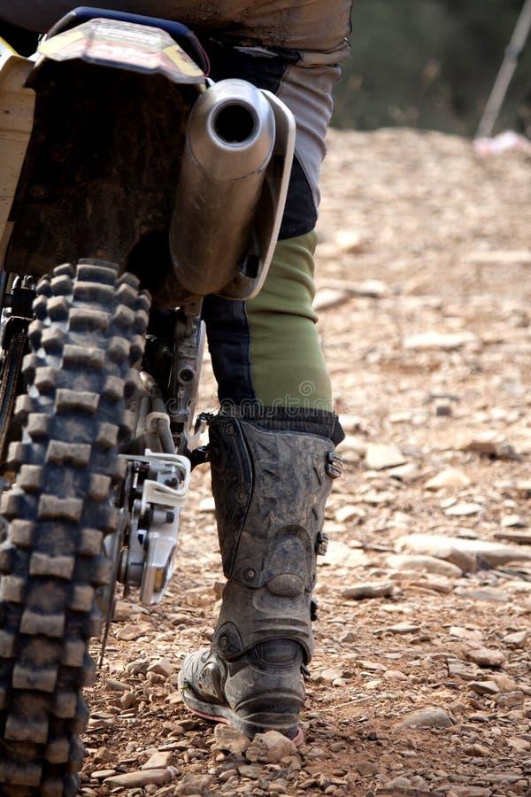 De ruiterdetail van de motocross stock fotografie