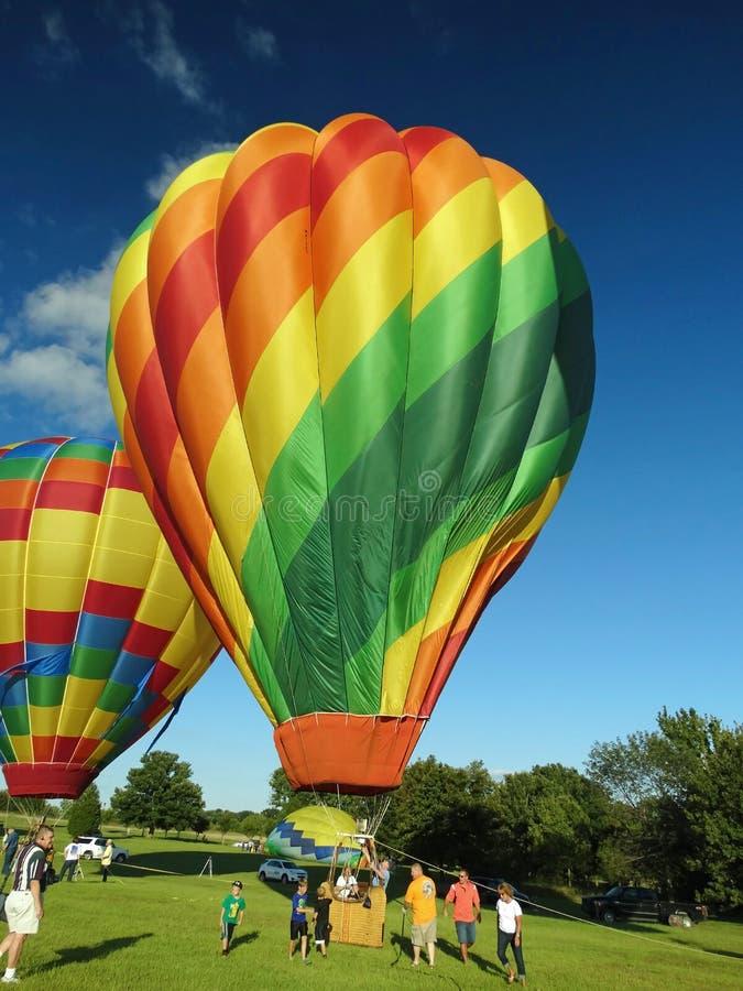 De Ruiters van de hete Luchtballon royalty-vrije stock foto