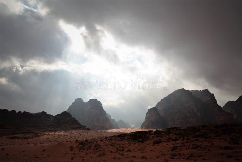 De rum Jordanië van de wadi royalty-vrije stock afbeeldingen