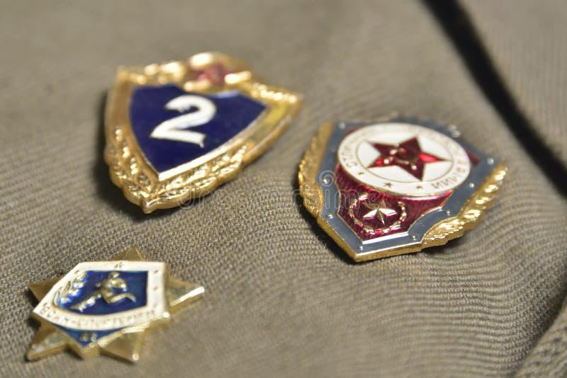 De Russische agressie van de federatie militaire kracht stock afbeeldingen