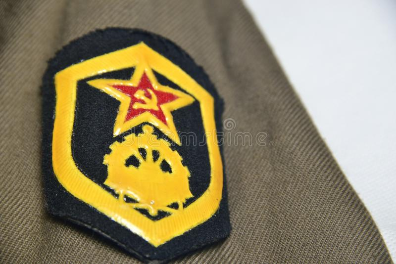 De Russische agressie van de federatie militaire kracht royalty-vrije stock afbeelding