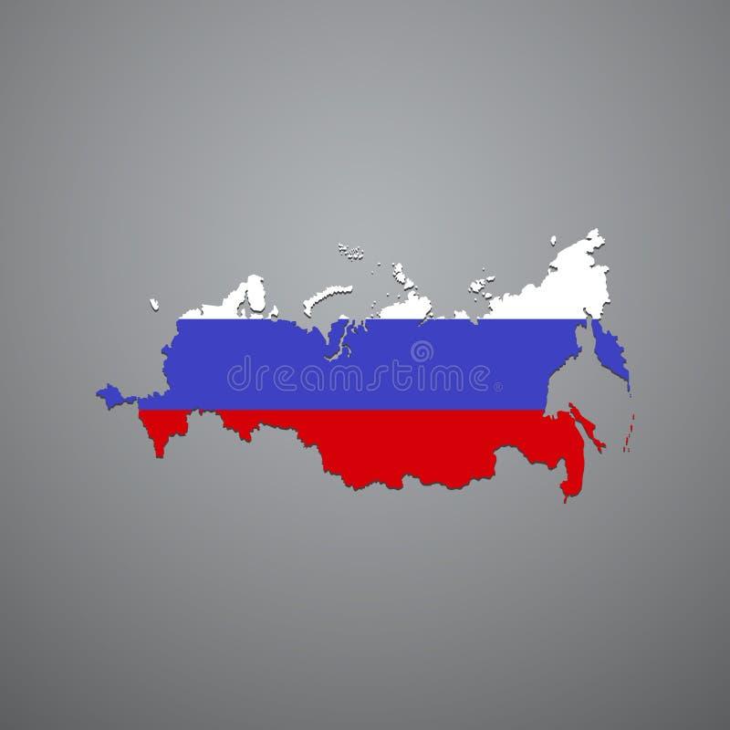 De Russische kaart van de Federatie vector illustratie