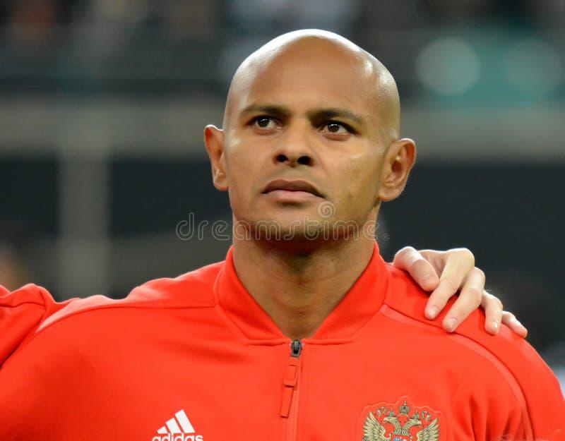De Russische nationale striker Ari van het voetbalteam royalty-vrije stock foto's
