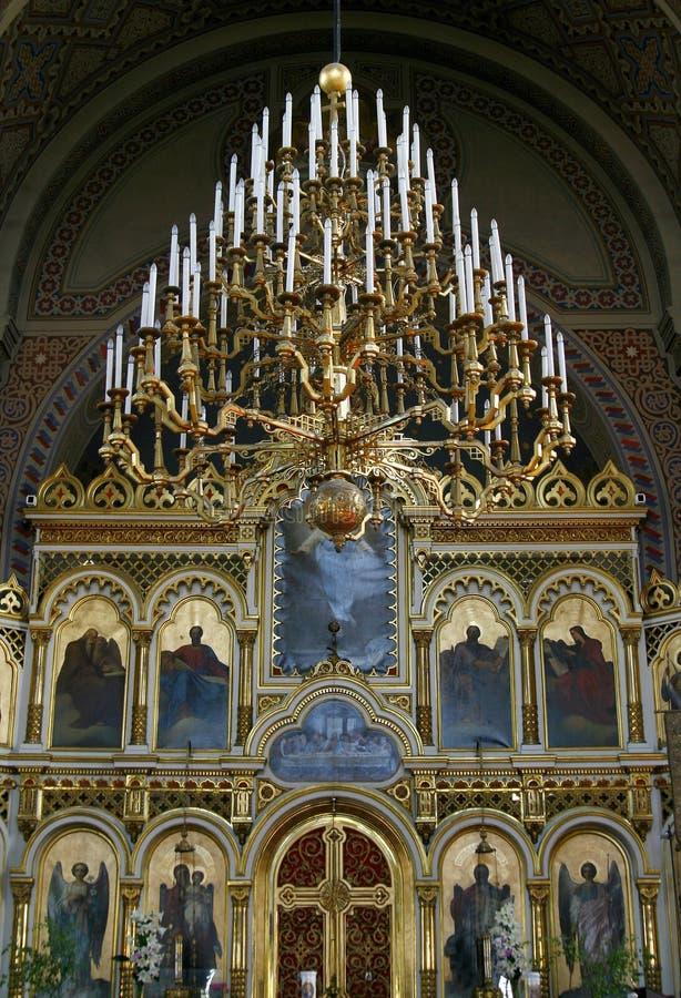 De Russische Orthodoxe kathedraal van Uspenski, Finland royalty-vrije stock foto