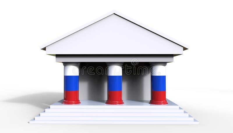 De Russische Wet en Hof 3D Illustratie van het Systeemconcept stock illustratie