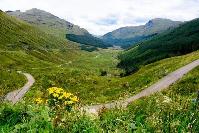 De rust en is Dankbare bergpas, Schotland royalty-vrije stock afbeeldingen