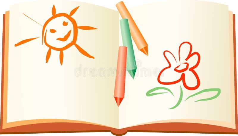 De rust van de zomer kindboek royalty-vrije illustratie
