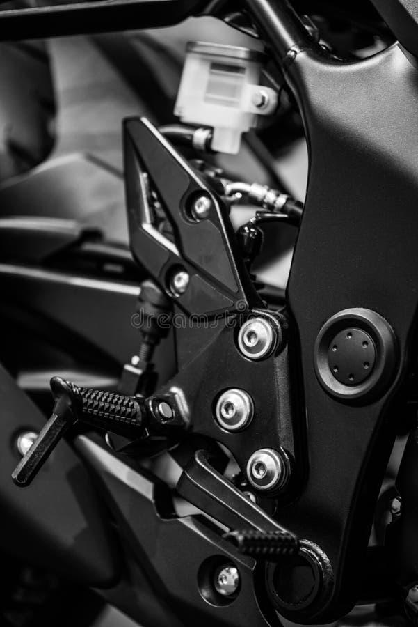 De rust van de motorfietsvoet royalty-vrije stock afbeelding