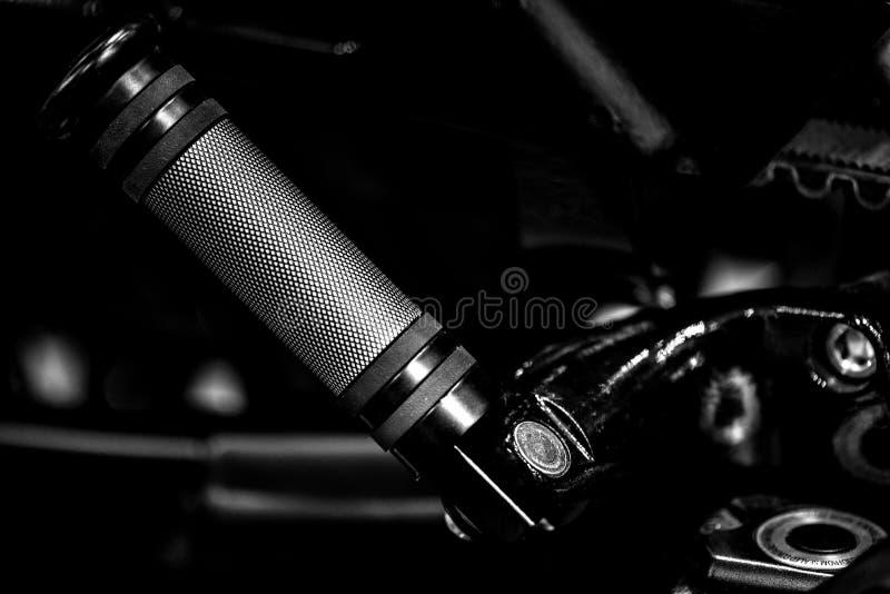 De rust van de motorfietsvoet stock afbeelding