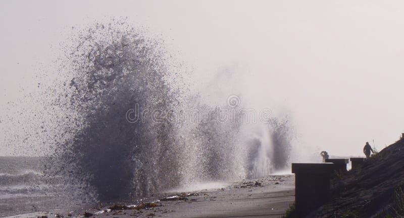 De rust van onweersophelia neer en klappenvasteland het UK stock foto's
