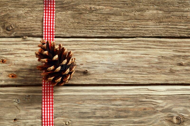 De rustieke achtergrond van Kerstmis stock fotografie
