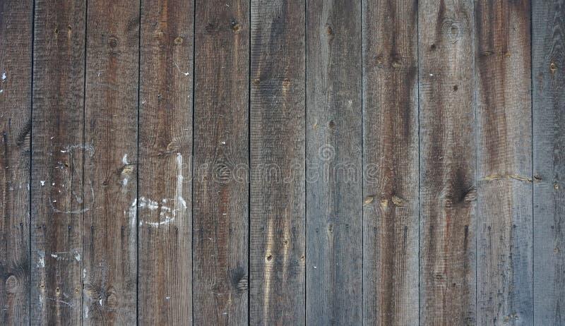 De rustieke houten brounachtergrond verontrustte oude houten textuur stock foto