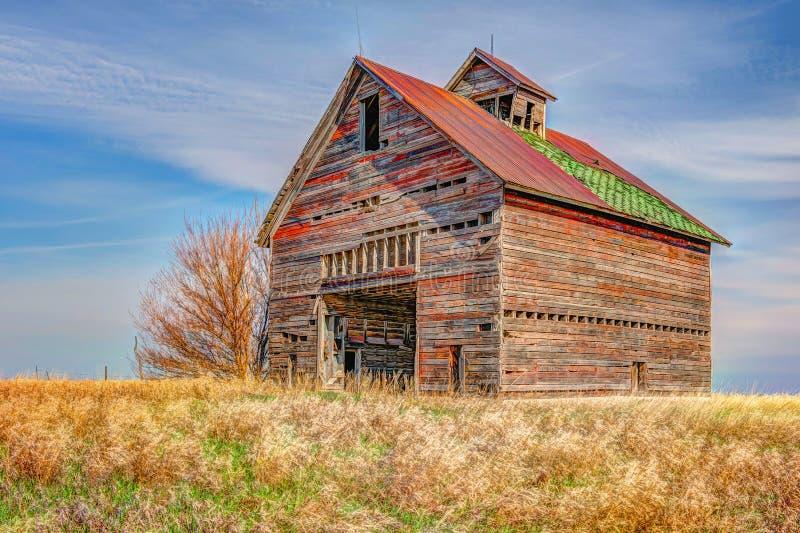 De rustieke schuur van het landbouwbedrijfmateriaal stock afbeeldingen