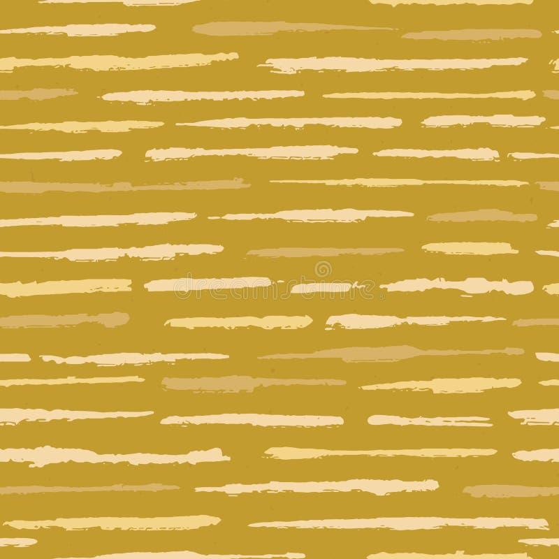 De rustieke Strepen Naadloos Vectorpatroon van Textuurgrunge Ruwe Geweven Lijnenachtergrond royalty-vrije illustratie