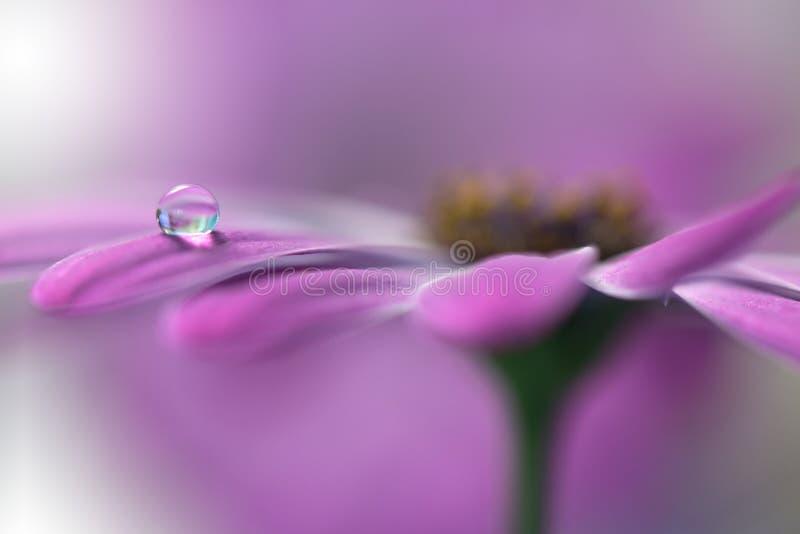 De rustige abstracte achtergrond van de close-upkunst Abstracte macrofoto met waterdalingen Kunstfotografie royalty-vrije stock foto's