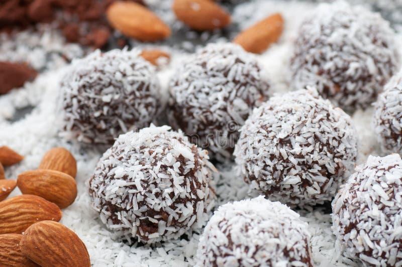 De ruwe Ballen van het Suikergoed van het Voedsel royalty-vrije stock foto