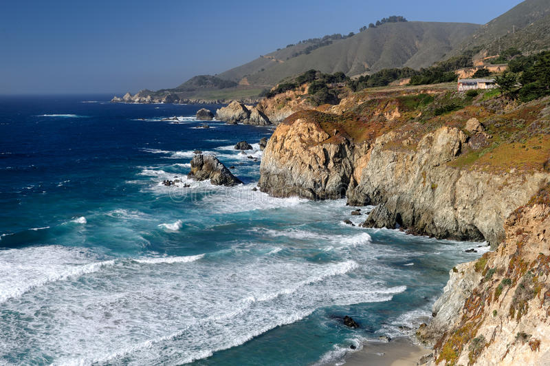 De ruwe kust van Californië royalty-vrije stock foto's