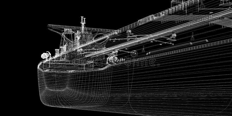 De ruwe oliecarrier van de tanker schip royalty-vrije stock foto's
