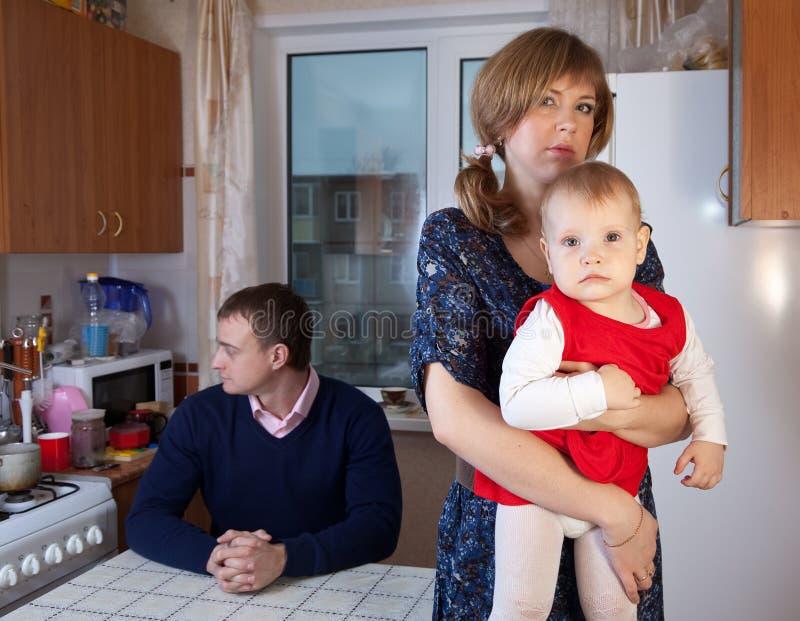 De ruzie van de familie stock afbeelding