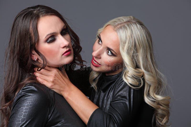 De ruzie van twee meisjesvrienden royalty-vrije stock foto