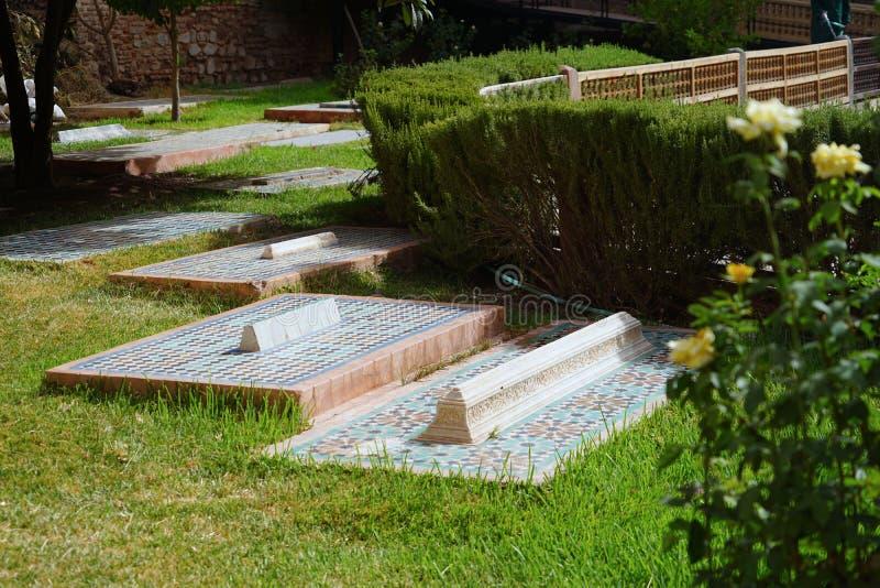 De Sadiane-Graven in Marrakech stock fotografie