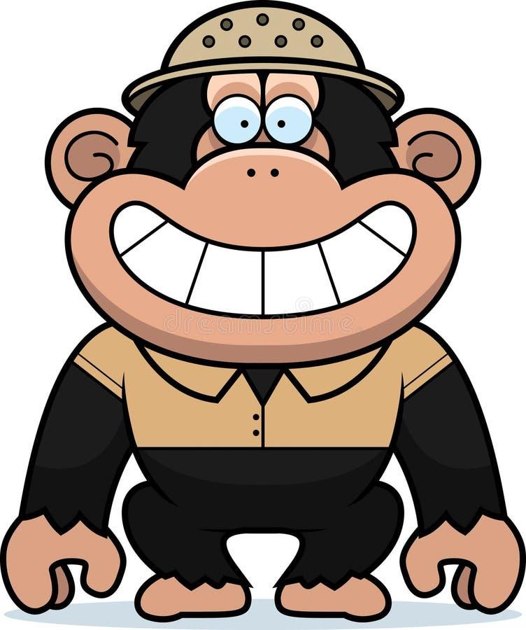 De Safari van de beeldverhaalchimpansee stock illustratie