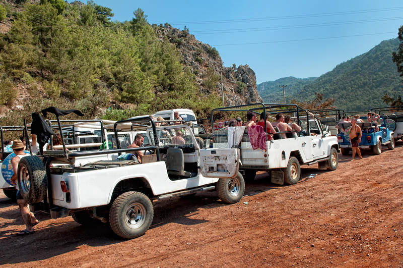 De safari van de jeep royalty-vrije stock fotografie