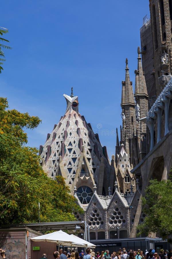 De Sagrada Familia Basiliek binnen Barcelona in Barcelona, Spanje in Europa royalty-vrije stock foto
