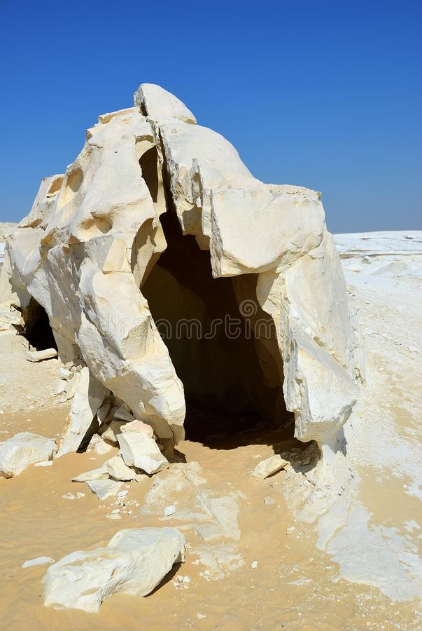 De Sahara, Egypte grotto royalty-vrije stock fotografie