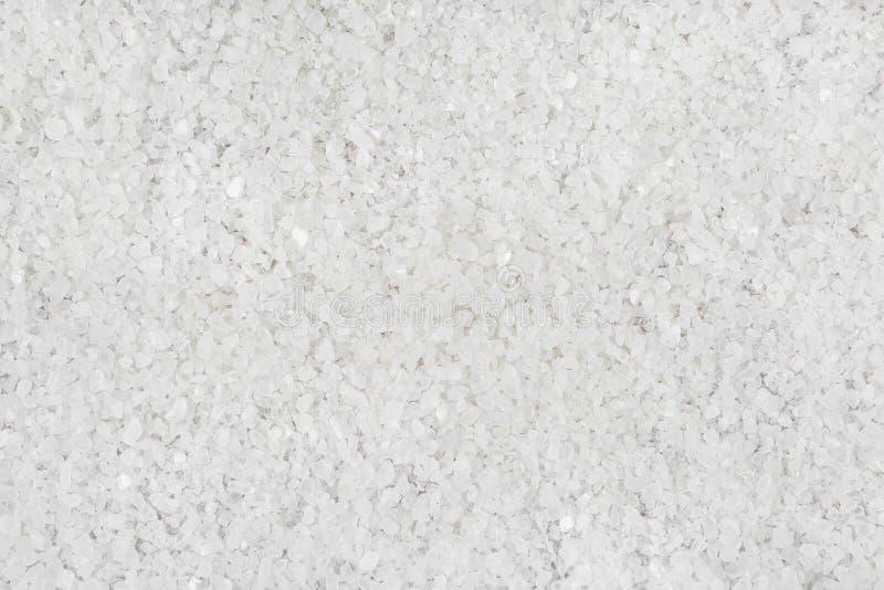 De sal grande dos cristais fundo uniformemente foto de stock