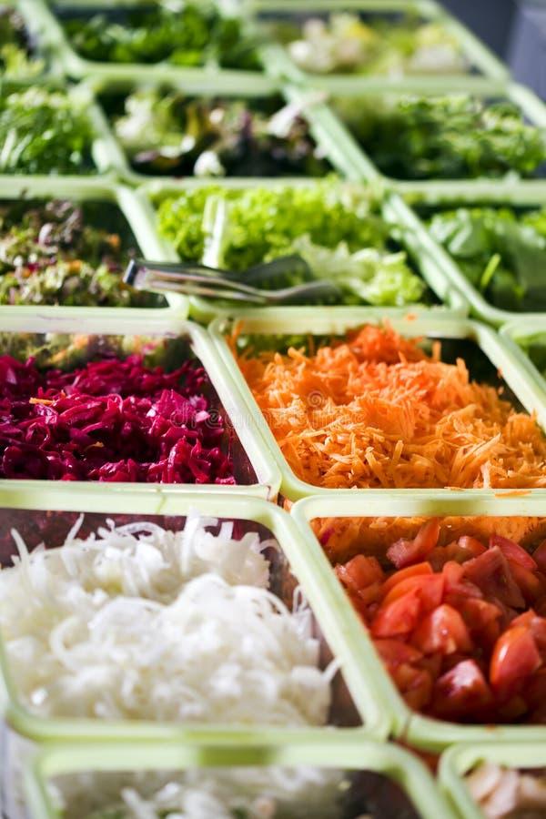 De salade buffed stock afbeeldingen