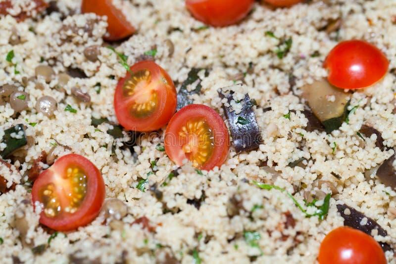 De salade met de kouskous royalty-vrije stock afbeeldingen